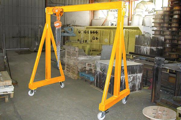 Portique pour atelier sur roues